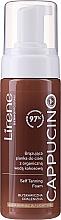 Perfumería y cosmética Espuma corporal autobronceadora para pieles claras con agua orgánica de coco - Lirene Cappucino Self Tanning Foam