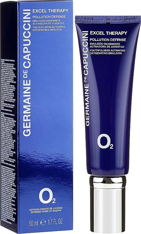 Emulsión de día oxigenante con aceite de jojoba y proteína de leche - Germaine de Capuccini Excel Therapy O2 Pollution Defense Emulsion
