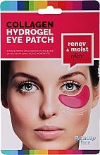 Perfumería y cosmética Parches de hidrogel para ojos con colágeno natural y extracto de vino tinto y semilla de uva - Beauty Face Collagen Hydrogel Eye Mask
