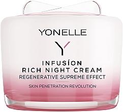 Perfumería y cosmética Crema de noche regeneradora con aceite de camelia y pantenol - Yonelle Infusion Rich Night Cream