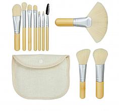Perfumería y cosmética Set brochas y pinceles de maquillaje, 10uds. + estuche - Tools For Beauty Bamboo White