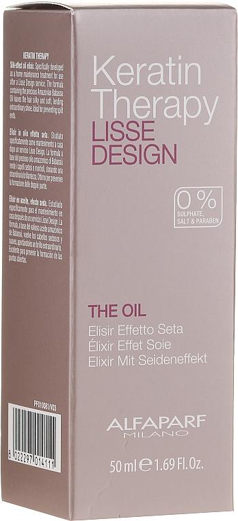 Aceite elixir para cabello de queratina, efecto seda - Alfaparf Lisse Design Keratin Therapy Oil