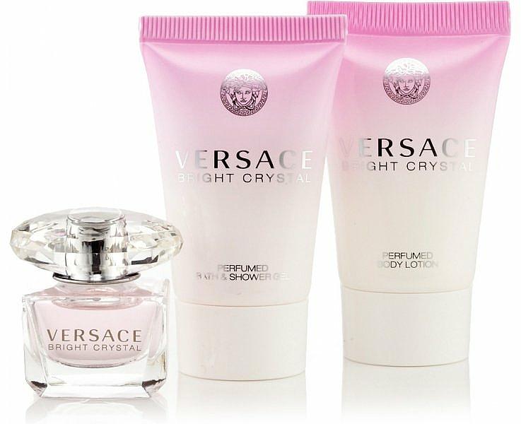 Versace Bright Crystal - Set (Eau de Toilette 50ml + loción corporal 50ml + gel de ducha 50ml)