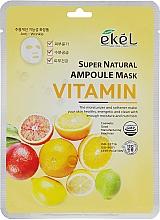Perfumería y cosmética Mascarilla facial de tejido con vitaminas - Ekel Super Natural Ampoule Mask Vitamin