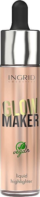 Iluminador facial líquido vegano - Ingrid Cosmetics Glow Maker Bali Vegan Highlighter