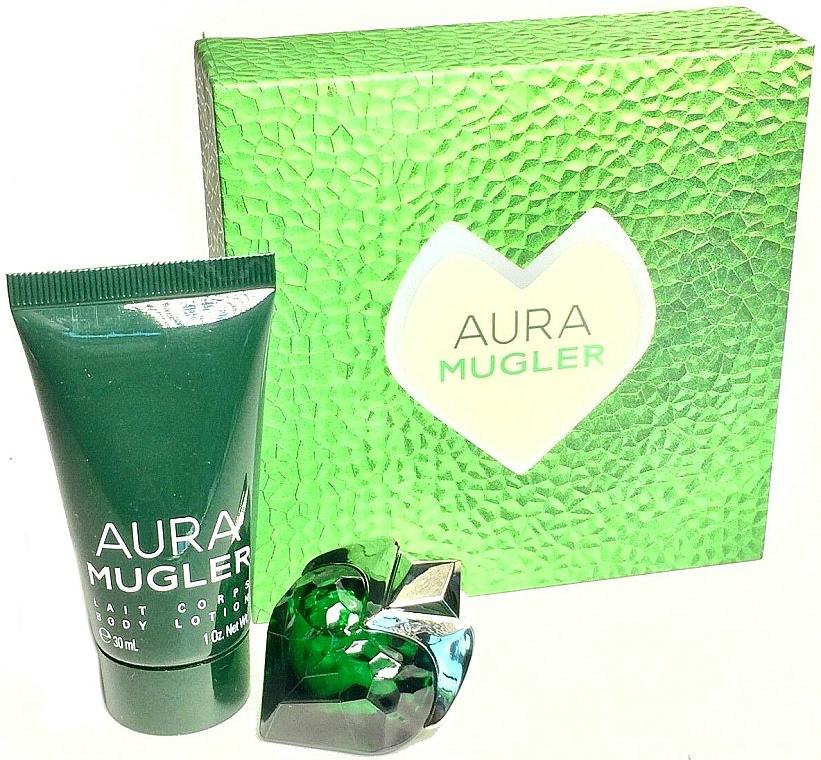 Thierry Mugler Aura Mugler - Set (eau de parfum/mini/5ml + loción corporal/30ml)