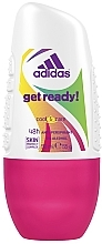 Perfumería y cosmética Desodorante roll-on antitranspirante, sin alcohol - Adidas Anti-Perspirant Get Ready Cool&Dry 48h