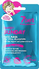 Perfumería y cosmética Mascarilla facial con extracto de loto - 7 Days Perfect Sunday