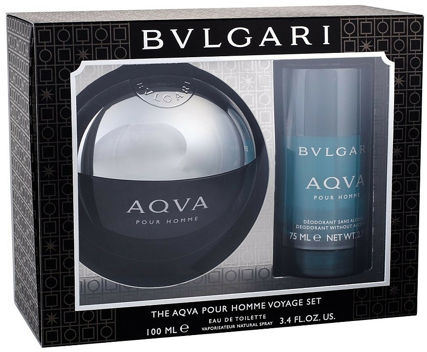 Bvlgari Aqva Pour Homme - Set (edt/100ml + desodorante/75ml) — imagen N1