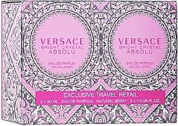Perfumería y cosmética Versace Bright Crystal Absolu - Set (eau de parfum/formato viaje/2uds./30ml)