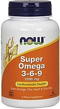 Perfumería y cosmética Complemento alimenticio con Omega 3-6-9 para la salud cardiovascular, 1200mg - Now Foods Super Omega 3-6-9 1200 mg
