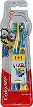 Perfumería y cosmética Cepillo dental extra suave, Smiles, amarillo y azul - Colgate Smiles Kids Extra Soft