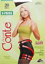 Perfumería y cosmética Pantis X-press, 20 Den, moca - Conte