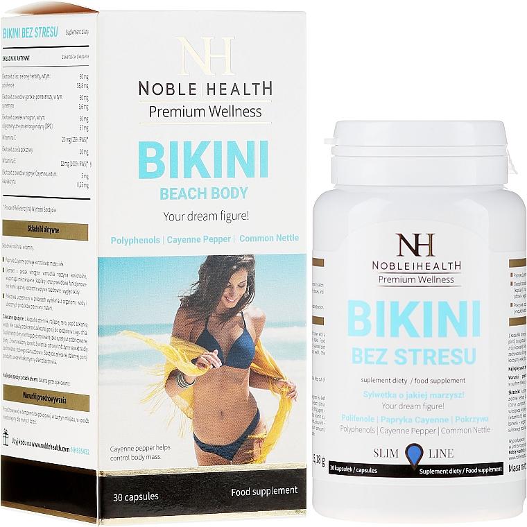 Complemento alimenticio para control de peso con extractos de semilla de uva y ortiga - Noble Health Slim Line Bikini
