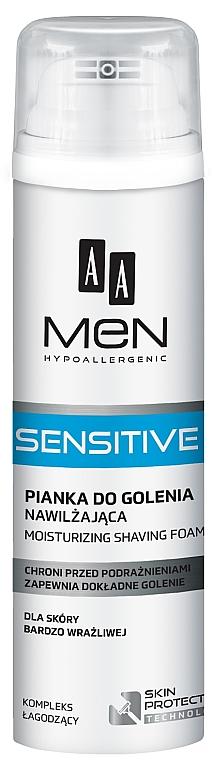 Espuma de afeitar con extracto de aloe vera - AA Men Sensitive Moisturizing Shaving Foam