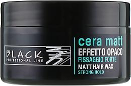 Perfumería y cosmética Cera para cabello de acabado mate y fijación fuerte - Black Professional Line Cera Matt Effetto Opaco
