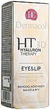 Perfumería y cosmética Crema antiarrugas para contorno de ojos y labios con ácido hialurónico y manteca de karité - Dermacol Hyaluron Therapy 3D Eye and Lip Wrinkle Filler Cream