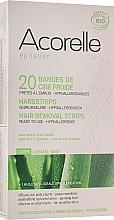 Perfumería y cosmética Bandas depilatorias corporales de cera fría con cera alba y extracto de aloe vera - Acorelle Hair Removal Strips
