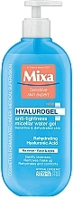 Perfumería y cosmética Gel micelar antitirantez para rostro y ojos con ácido hialurónico - Mixa Hyalurogel Micellar Gel For Sensitive Very Dry Skin