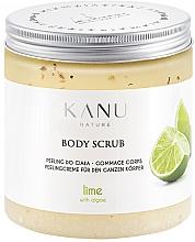 Perfumería y cosmética Exfoliante corporal de sal con algas, aroma a lima - Kanu Nature Lime Body Scrub