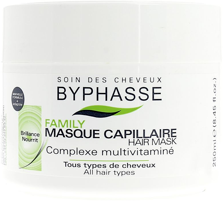 Mascarilla capilar con complejo multivitamínico - Byphasse Family Multivitamin Complexe Mask — imagen N1