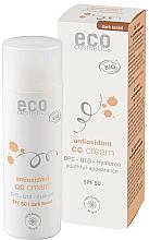 Perfumería y cosmética Crema CC antioxidante con coenzima Q10, SPF50 - Eco Cosmetics Tinted CC Cream SPF 50