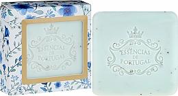 Perfumería y cosmética Jabón artesanal de glicerina con semilla de albaricoque, aroma violeta - Essencias De Portugal Violet And Apricot Kernel Scrub Aromatic Soap