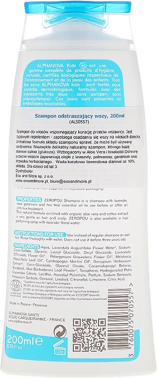 Champú de post tratamiento y prevención de piojos con aceite esencial orgánico de lavanda y árbol de té - Alphanova Kids Shampoo — imagen N2