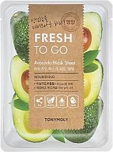 Perfumería y cosmética Mascarilla facial de tejido nutritiva con extracto de aguacate - Tony Moly Fresh To Go Avocado Mask Sheet Nourishing