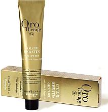 Perfumería y cosmética Crema colorante permanente sin amoníaco con queratina, oro y aceite de argán - Fanola Oro Therapy Color Keratin Oro Puro
