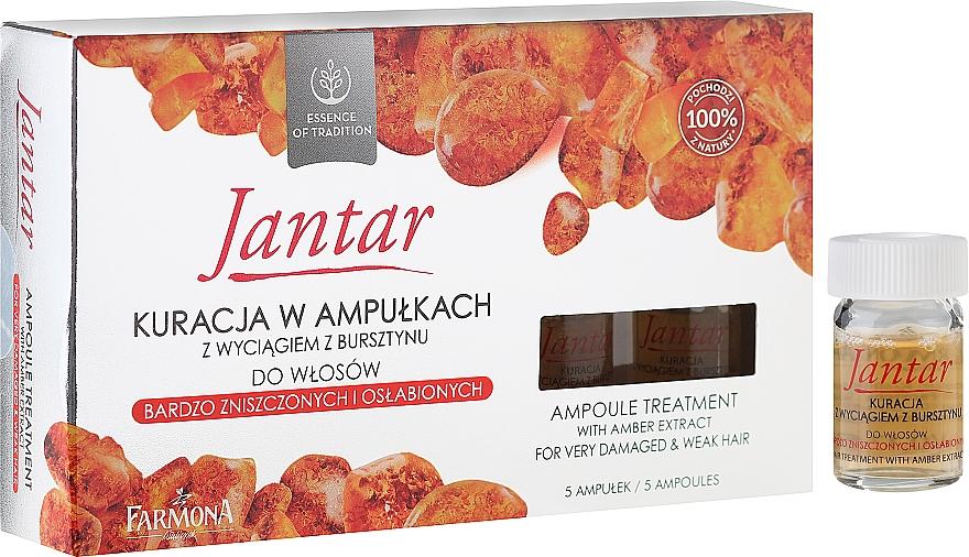 Tratamiento reparador capilar con extracto de ámbar - Farmona Jantar Hair Treatment In Ampoules