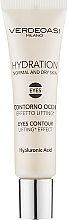 Perfumería y cosmética Contorno de ojos efecto lifting con ácido hialurónico - Verdeoasi Hydrating Eyes Contour Lifting Effect