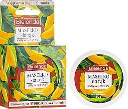 Perfumería y cosmética Manteca de manos con extracto de plátano - Bielenda Hand Butter Nourishing Banana