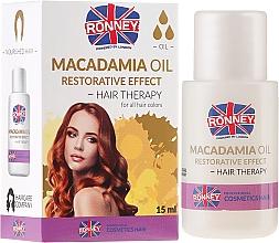 Perfumería y cosmética Aceite capilar protector de macadamia - Ronney Macadamia Oil Restorative Effect Hair Therapy