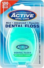 Perfumería y cosmética Hilo dental con sabor a menta - Beauty Formulas Active Oral Care Dental Floss Mint Waxed + Fluor 100m