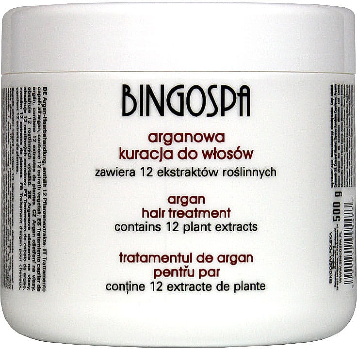Tratamiento capilar con aceite de argán para fortalecer el cabello - BingoSpa Argan Hair Treatment