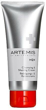 Crema de limpieza y afeitado con jugo de aloe vera - Artemis of Switzerland Men Cleansing & Shaving Cream
