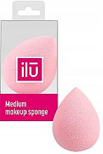 Perfumería y cosmética Esponja de maquillaje, rosa - Ilu Sponge Raindrop Medium Pink