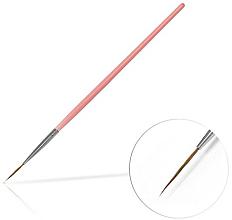 Perfumería y cosmética Pincel para decoración de uñas, 15mm - Silcare Brush 03 Pink