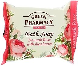 Perfumería y cosmética Jabón con rosa damascena & manteca de karité - Green Pharmacy