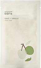 Perfumería y cosmética Mascarilla facial de tejido iluminadora con 73% agua orgánica de ciruela - Sioris Make It Bright Sheet Mask