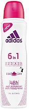 Perfumería y cosmética Desodorante antitranspirante 6en1 con 0% alcohol - Adidas Anti-Perspirant 6 in 1 Cool&Care 48h