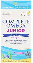 Perfumería y cosmética Complemento alimenticio omega-3, sabor limón 283 mg - Nordic Naturals Complete Omega Junior