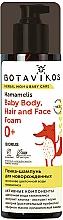 Perfumería y cosmética Espuma para cuerpo, cabello y rostro de bebés con hamamelis, hipoalergénica - Botavikos Baby Body, Hair And Face Foam