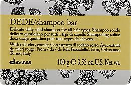 Perfumería y cosmética Champú sólido de uso diario con extracto de apio rojo - Davines Shampoo Bar