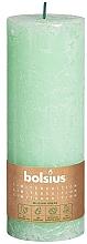 Perfumería y cosmética Vela cilíndrica, verde, 190x68 mm - Bolsius
