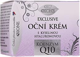 Perfumería y cosmética Crema contorno de ojos con ácido hialurónico y coenzima Q10 - Bione Cosmetics Exclusive Organic Eye Cream With Q10