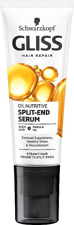 Fluido reparador de puntas con 8 aceites nutritivos - Schwarzkopf Gliss Kur Oil Nutritive 8 Presicious Oils