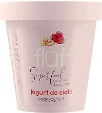 Perfumería y cosmética Yogur natural corporal con proteína de arroz y aceite de coco, aroma a frambuesas y almendras - Fluff Body Yogurt Raspberries and Almonds