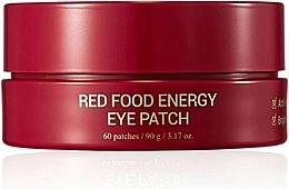 Perfumería y cosmética Parches contorno de ojos de hidrogel con extracto de ginseng rojo, 60uds. - Yadah Red Food Energy Eye Patch
